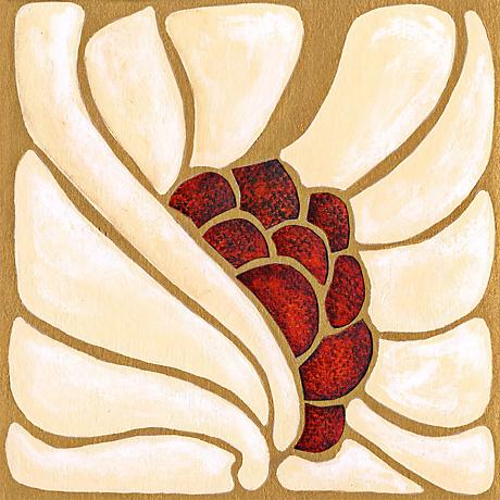 "Garnet Moderna I Giclee 24"" Square Canvas Wall Art"