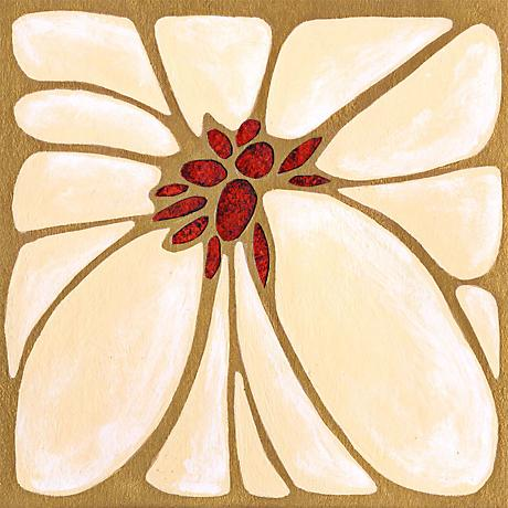 "Garnet Moderna II Giclee 24"" Square Canvas Wall Art"