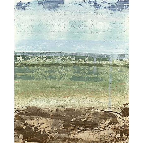 "Extracted Landscape II Giclee 30"" High Canvas Wall Art"