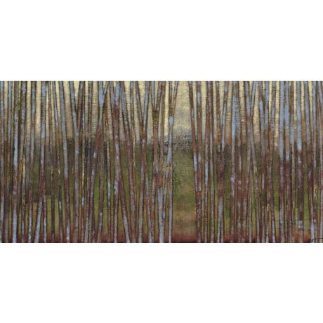 "Blue Birch Forest II Giclee 48"" Wide Canvas Wall Art"