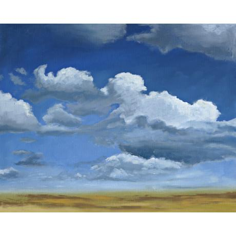 "Big Sky Giclee 40"" Wide Canvas Wall Art"