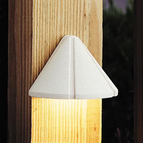 Kichler Textured White LED Landscape Deck Light