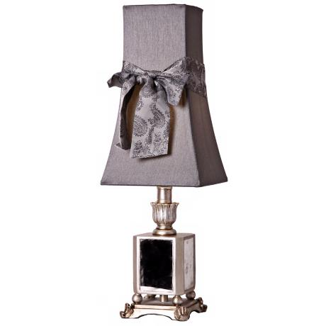 Vintage Silver Mirror Accent Table Lamp
