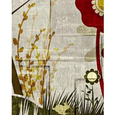 "Garden Mural 2 Giclee 20"" High Canvas Wall Art"