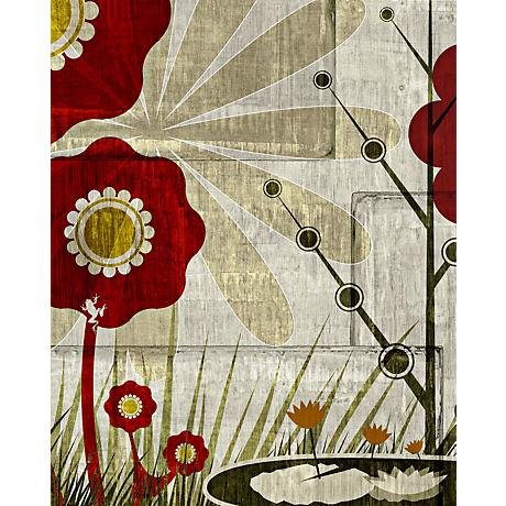 "Garden Mural 3 Giclee 20"" High Canvas Wall Art"