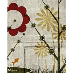 "Garden Mural 4 Giclee 20"" High Canvas Wall Art"