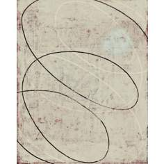 "Spiral Works Cream Giclee 30"" High Canvas Wall Art"