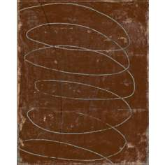 "Spiral Works Brown Giclee 30"" High Canvas Wall Art"