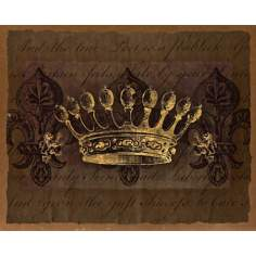 "Dark Crowns 1 Giclee 20"" High Canvas Wall Art"