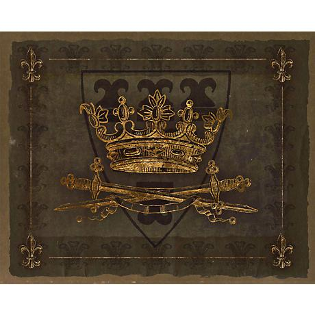 "Dark Crowns 2 Giclee 20"" High Canvas Wall Art"