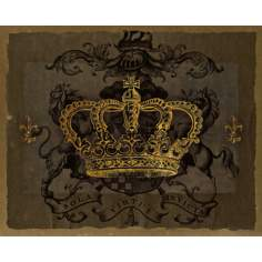 "Dark Crowns 3 Giclee 20"" High Canvas Wall Art"
