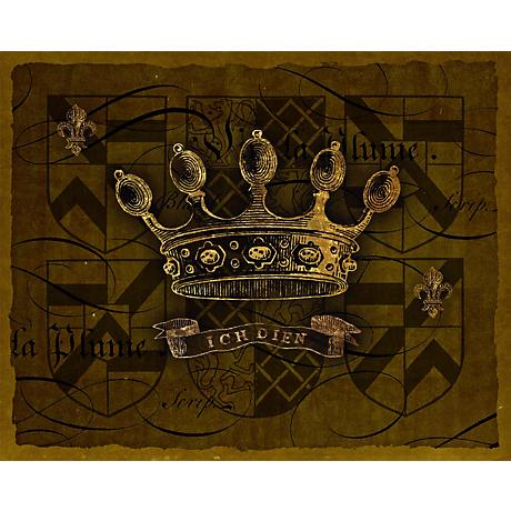 "Dark Crowns 4 Giclee 20"" High Canvas Wall Art"