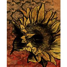 "Sunflower I Giclee 14"" High Canvas Wall Art"