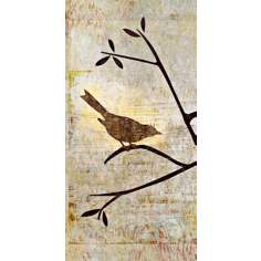 "Perched Trio One Giclee 36"" High Canvas Wall Art"