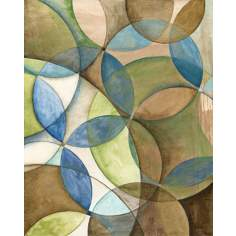 "Circulate II Giclee 30"" High Canvas Wall Art"