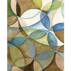 "Circulate I Giclee 30"" High Canvas Wall Art"