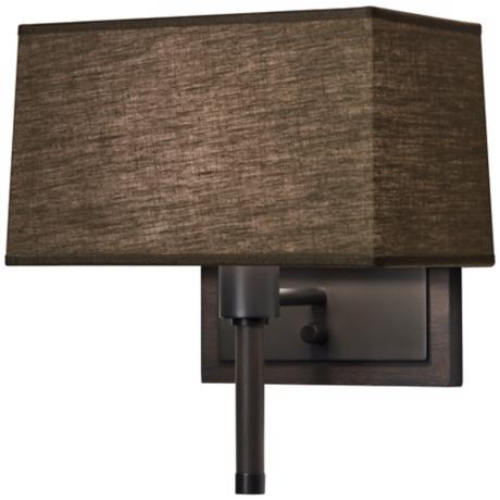 Robert Abbey Adaire Bronze Truffle Plug-In Wall Lamp
