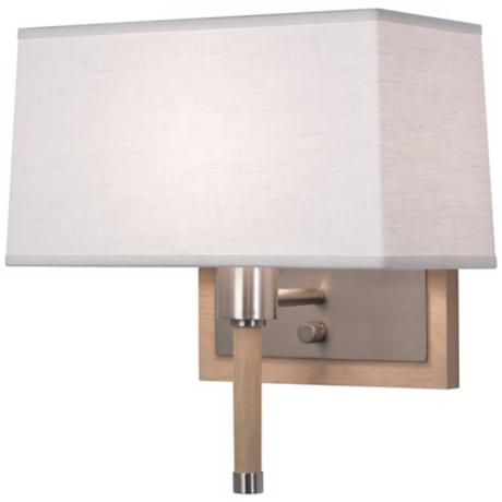 Robert Abbey Adaire Nickel Oyster Plug-In Wall Lamp