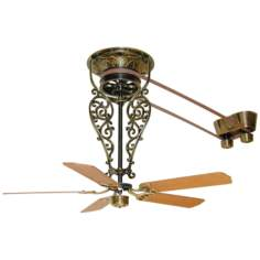 "36"" Fanimation Bourbon Street Belt-Drive Brass Ceiling Fan"