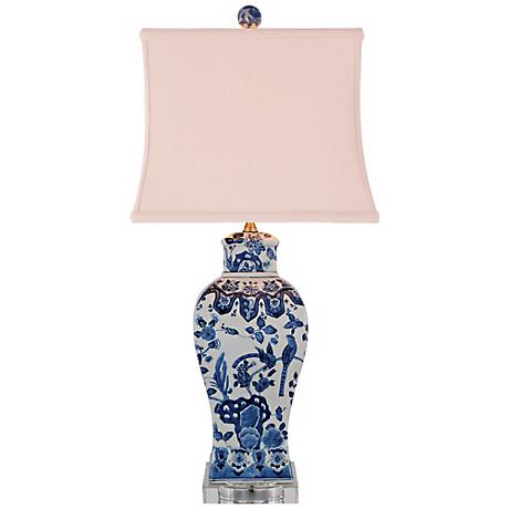 Blue and White Square Vase Porcelain Table Lamp