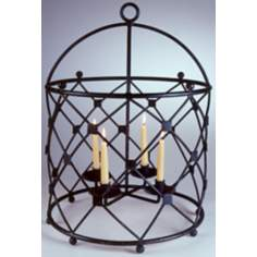 Brunswick Black Finish Iron Chandelier