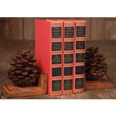Set of 2 Pinecone Bookends