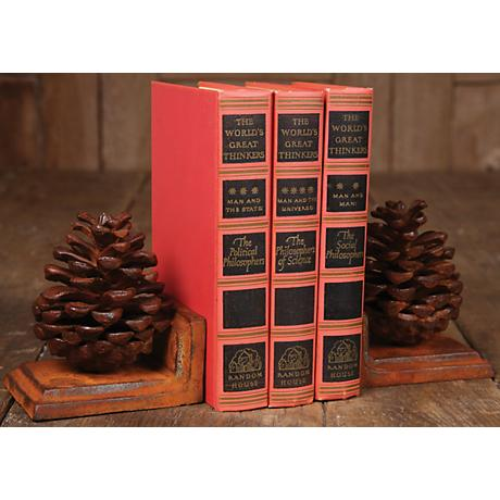Pinecone Bookends Set of 2