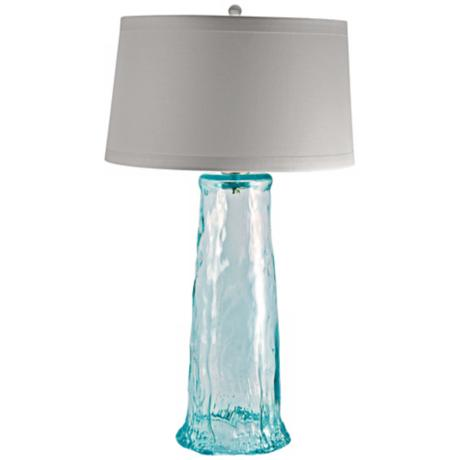 Waterfall Recycled Glass Table Lamp