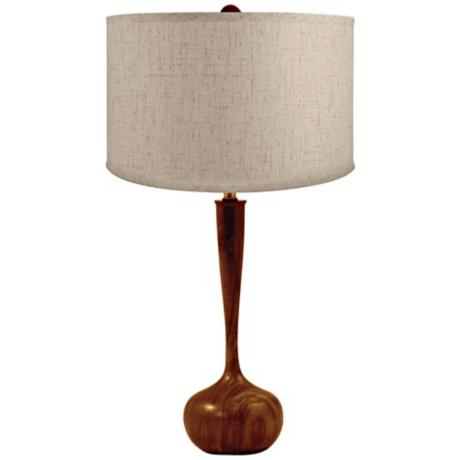 Wooden Tulip Bulb Table Lamp