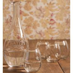 Set of 5 Carafe with Glasses Barware