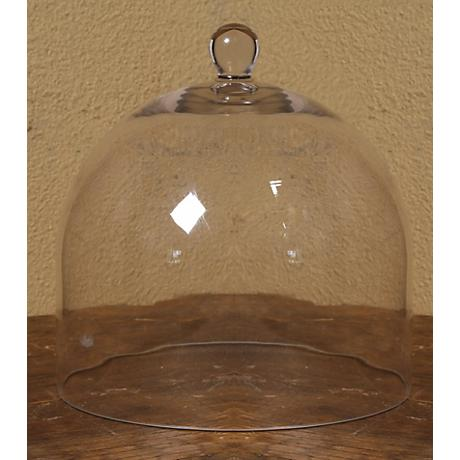 "Large Bell Jar 11 1/2"" High Glass Dome"