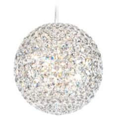 "Schonbek Da Vinci Collection 10"" LED Crystal Pendant Light"