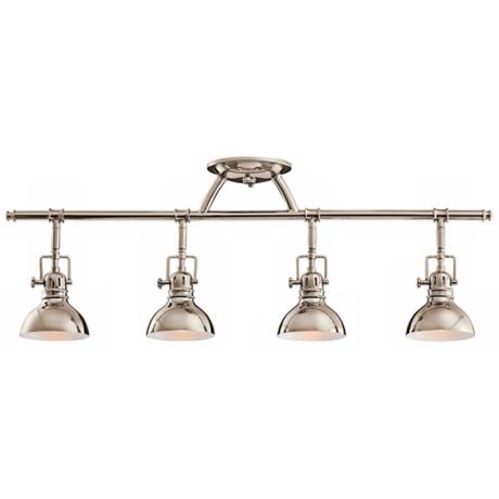 "Kichler Polished Nickel 31 1/2"" Wide Swivel Ceiling Fixture"
