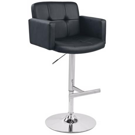 Stout Black Adjustable Bar Stool or Counter Stool