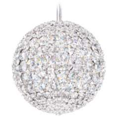 "Schonbek Da Vinci Collection 8"" Wide Crystal Pendant Light"