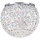 "Schonbek Da Vinci Collection 10"" Wide Crystal Ceiling Light"