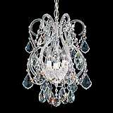 "Schonbek Olde World Collection 11"" Wide Crystal Pendant"