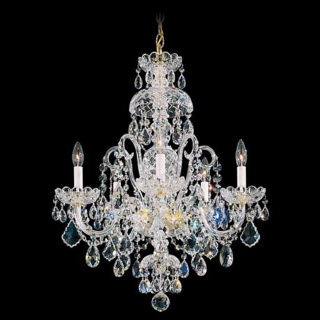 "Schonbek Olde World Collection 22"" Wide Crystal Chandelier"