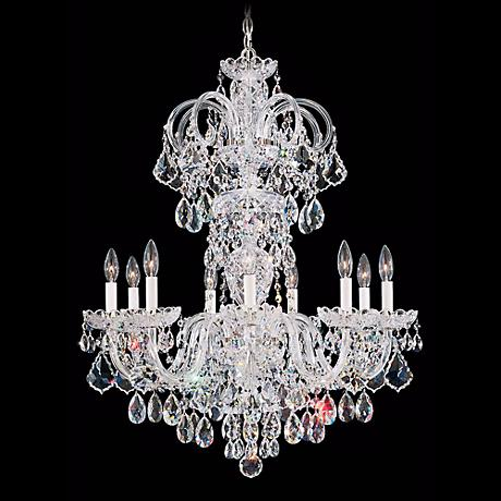 "Schonbek Olde World 27"" Wide Swarovski Crystal Chandelier"