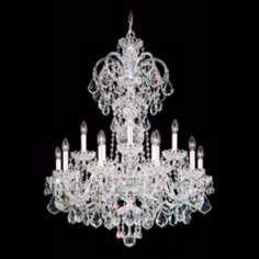 "Schonbek Olde World Collection 32"" Wide Crystal Chandelier"