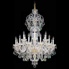 "Schonbek Olde World 36"" Wide Large Crystal Chandelier"