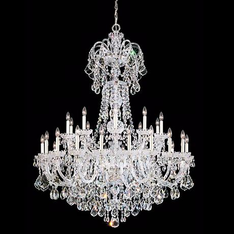 "Schonbek Olde World 48"" Wide Swarovski Crystal Chandelier"