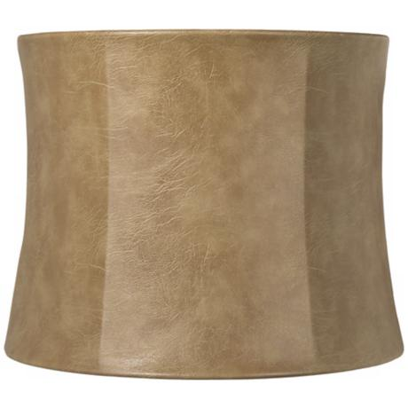 Faux Leather Distressed Lamp Shade 13x14x11 (Spider)