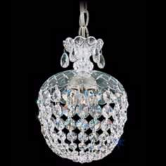 "Schonbek Olde World Collection 8"" Crystal Mini Pendant Light"