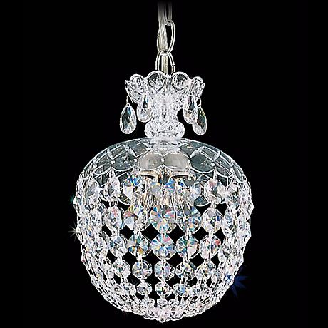 "Schonbek Olde World 8"" Swarovski Crystal Mini Pendant Light"