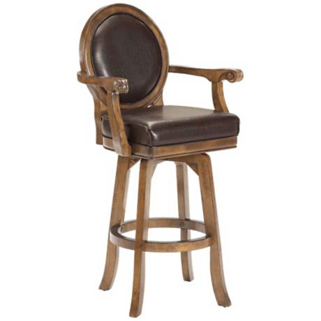 "Hillsdale Warrington Swivel 30"" High Bar Stool"