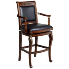 "Hillsdale Douglas Wood 30"" High Bar Stool"