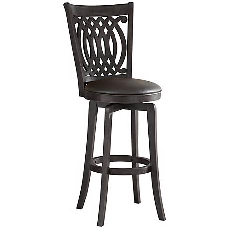trek large adjustable height black bar stool r4597. Black Bedroom Furniture Sets. Home Design Ideas