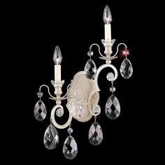 "Schonbek Renaissance Collection 14"" Left Crystal Wall Sconce"