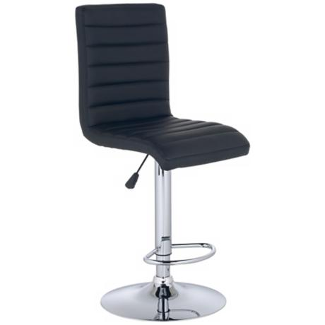 Scribbler Black Adjustable Modern Counter or Bar Stool